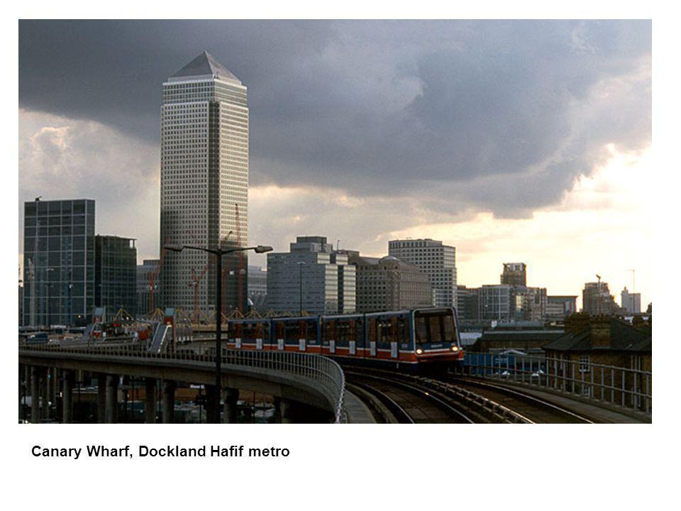 Canary Wharf, Dockland Hafif metro
