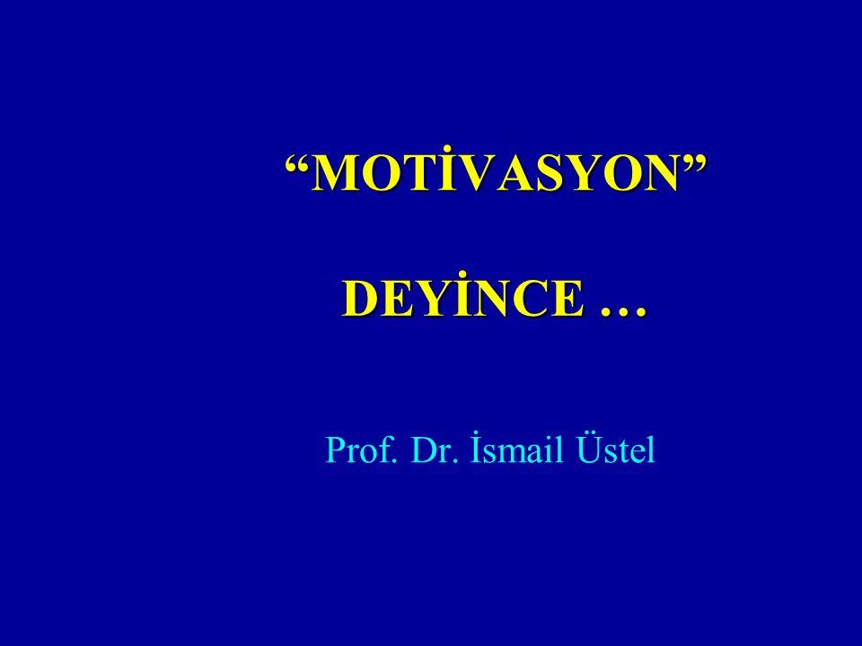 """MOTİVASYON"" DEYİNCE … Prof. Dr. İsmail Üstel"