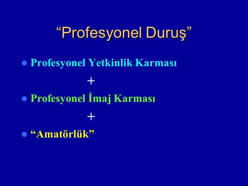 """""""Profesyonel Duruş"""" Profesyonel Yetkinlik Karması + Profesyonel İmaj Karması + """"Amatörlük"""""""