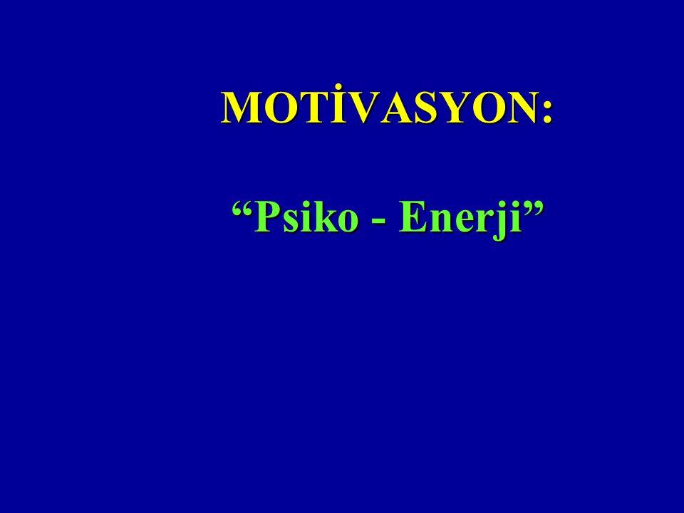 """MOTİVASYON: """"Psiko - Enerji"""""""