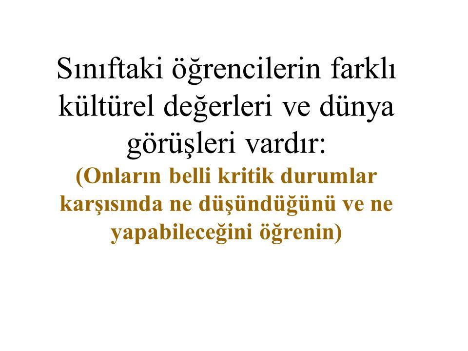 Bugün Türkiye'de politika, spor, sanat, ekonomi vs alanlarında başarılı olmuş insanlara bir bakın...