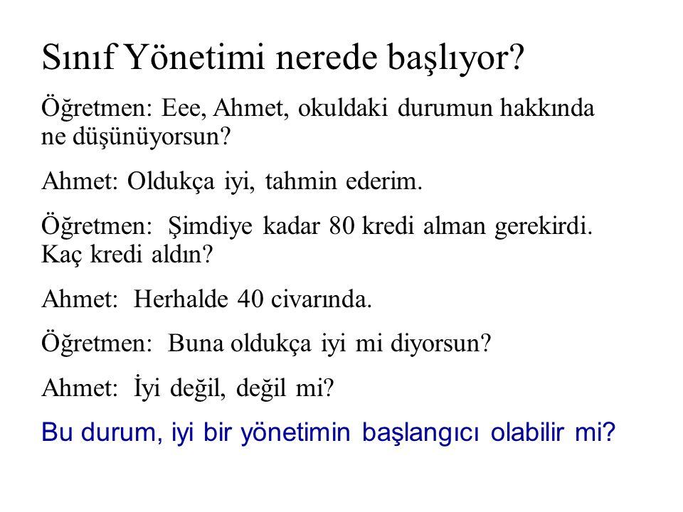 Karşı karşıya gelme / İnkar Öğretmen: Ahmet, her zaman derse geç kalıyorsun..