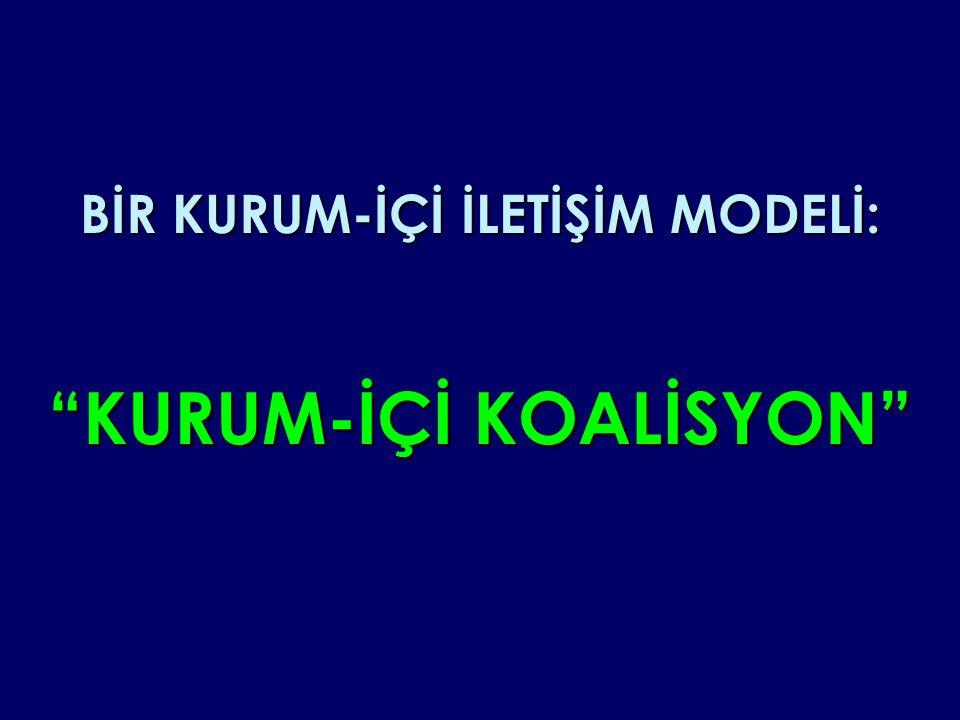 """BİR KURUM-İÇİ İLETİŞİM MODELİ: """"KURUM-İÇİ KOALİSYON"""""""