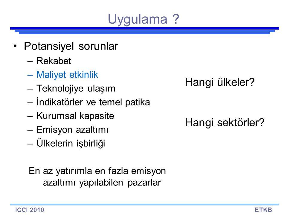 ICCI 2010ETKB Uygulama .