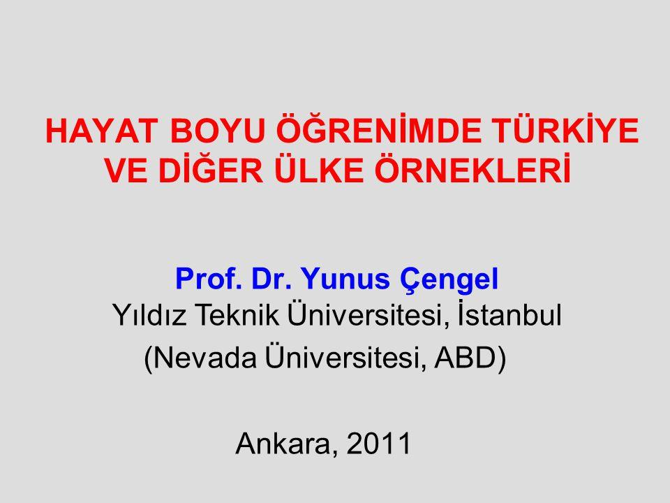 HAYAT BOYU ÖĞRENİMDE TÜRKİYE VE DİĞER ÜLKE ÖRNEKLERİ Prof. Dr. Yunus Çengel Yıldız Teknik Üniversitesi, İstanbul (Nevada Üniversitesi, ABD) Ankara, 20