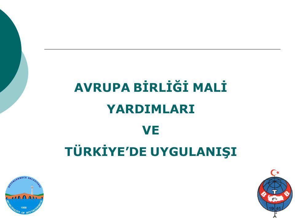 Proje genel bilgi 2/34 2 Avrupa Birliği Mali Yardımları ► 1999 Helsinki Zirvesi'nin kabulü ile birlikte, AB- Türkiye ilişkileri diğer pek çok alanda olduğu gibi mali yardımlar alanında da kapsamlı bir değişikliğe uğradı.