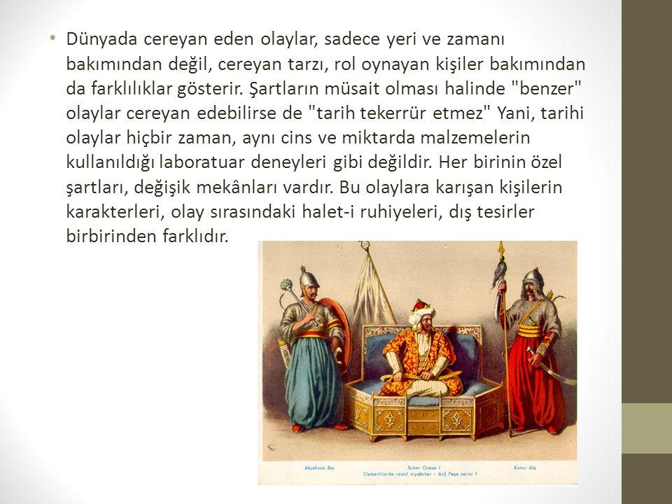 Osmanlılar Dönemi  Siyasi ve Askeri olaylar  Yöneticiler(Hayatları, başrıları)  Devlet Politikası içindir.