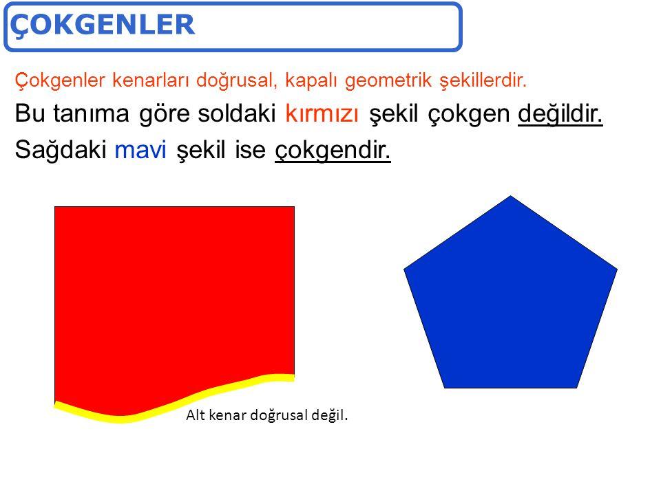 Çokgenler kenarları doğrusal, kapalı geometrik şekillerdir.