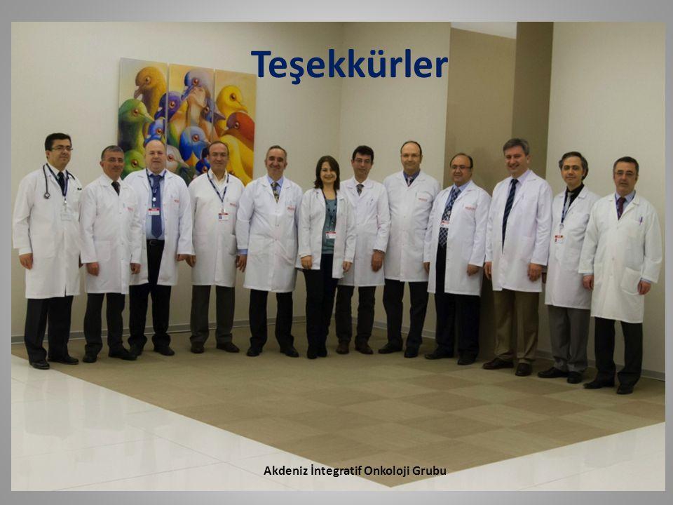 Akdeniz İntegratif Onkoloji Grubu Teşekkürler