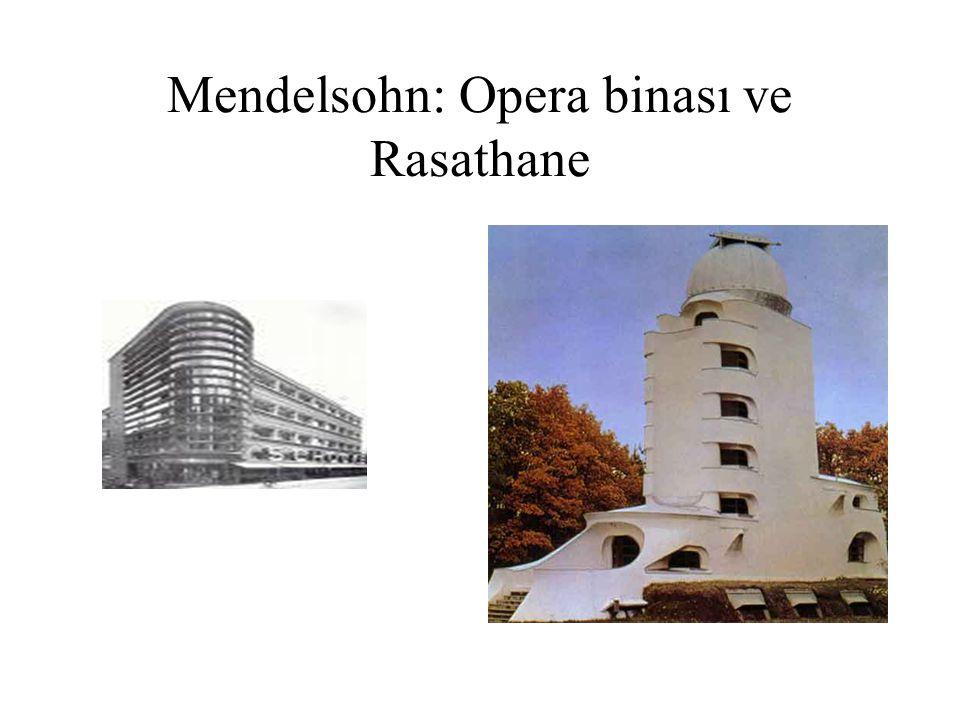 Mendelsohn: Opera binası ve Rasathane