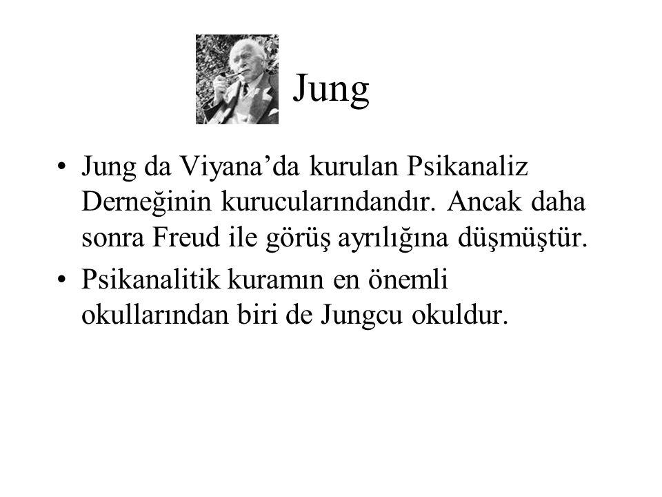 Jung Jung da Viyana'da kurulan Psikanaliz Derneğinin kurucularındandır. Ancak daha sonra Freud ile görüş ayrılığına düşmüştür. Psikanalitik kuramın en