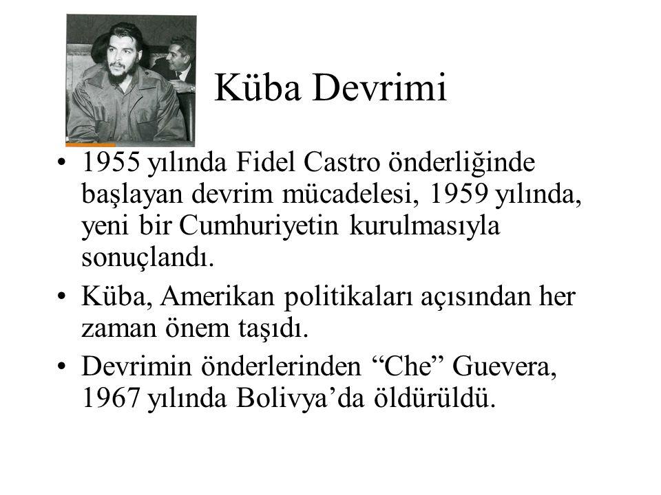 Küba Devrimi 1955 yılında Fidel Castro önderliğinde başlayan devrim mücadelesi, 1959 yılında, yeni bir Cumhuriyetin kurulmasıyla sonuçlandı. Küba, Ame