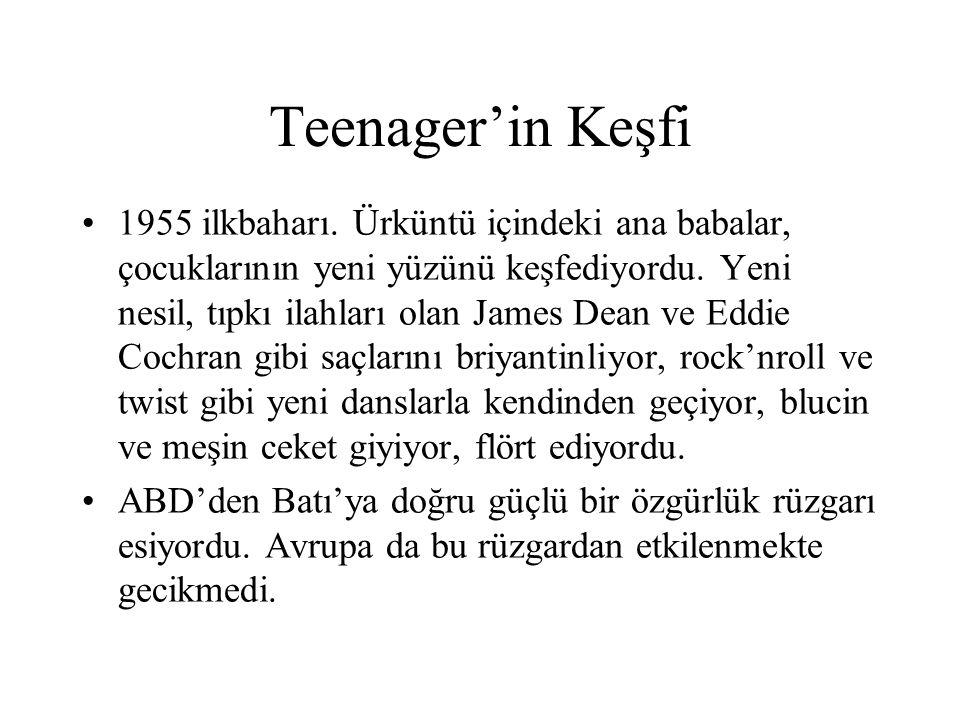 Teenager'in Keşfi 1955 ilkbaharı. Ürküntü içindeki ana babalar, çocuklarının yeni yüzünü keşfediyordu. Yeni nesil, tıpkı ilahları olan James Dean ve E