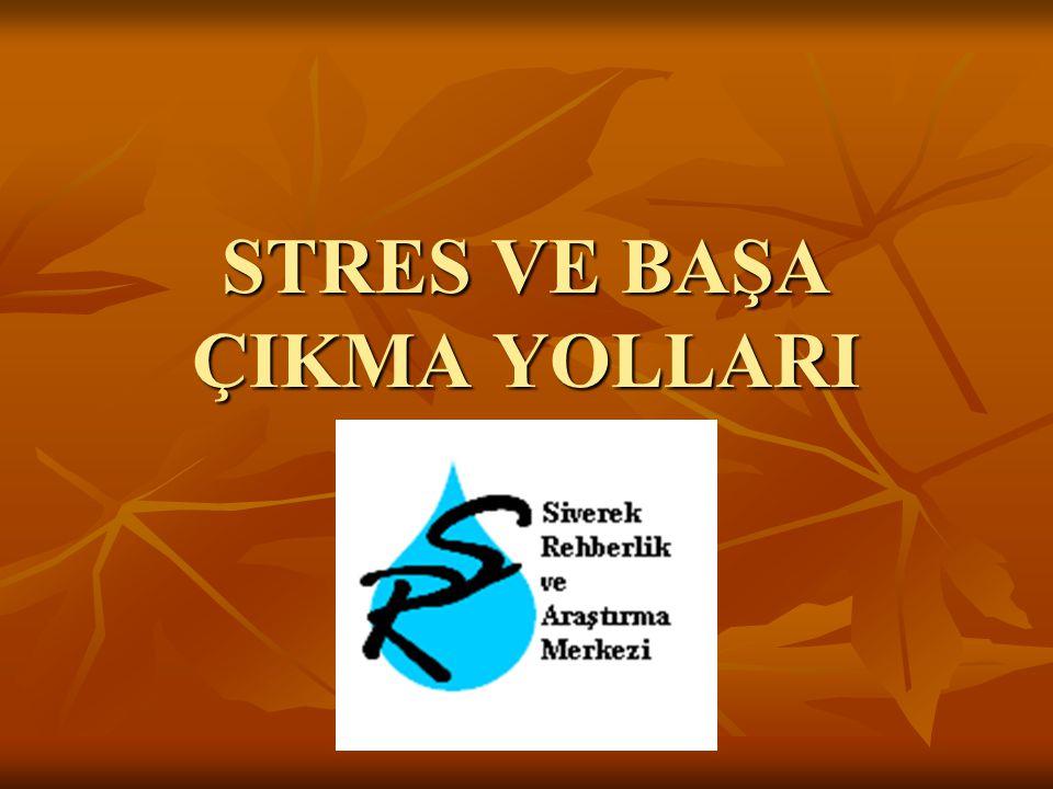 İÇİNDEKİLER: 1- Stres Nedir.1- Stres Nedir.