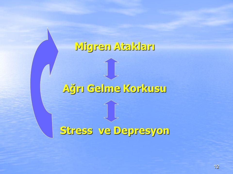 12 Migren Atakları Ağrı Gelme Korkusu Stress ve Depresyon