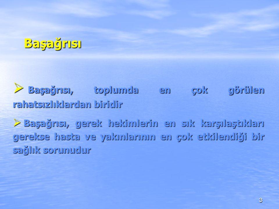 24 BAŞAĞRILARI; BAŞAĞRILARI; A.Primer başağrıları 1.