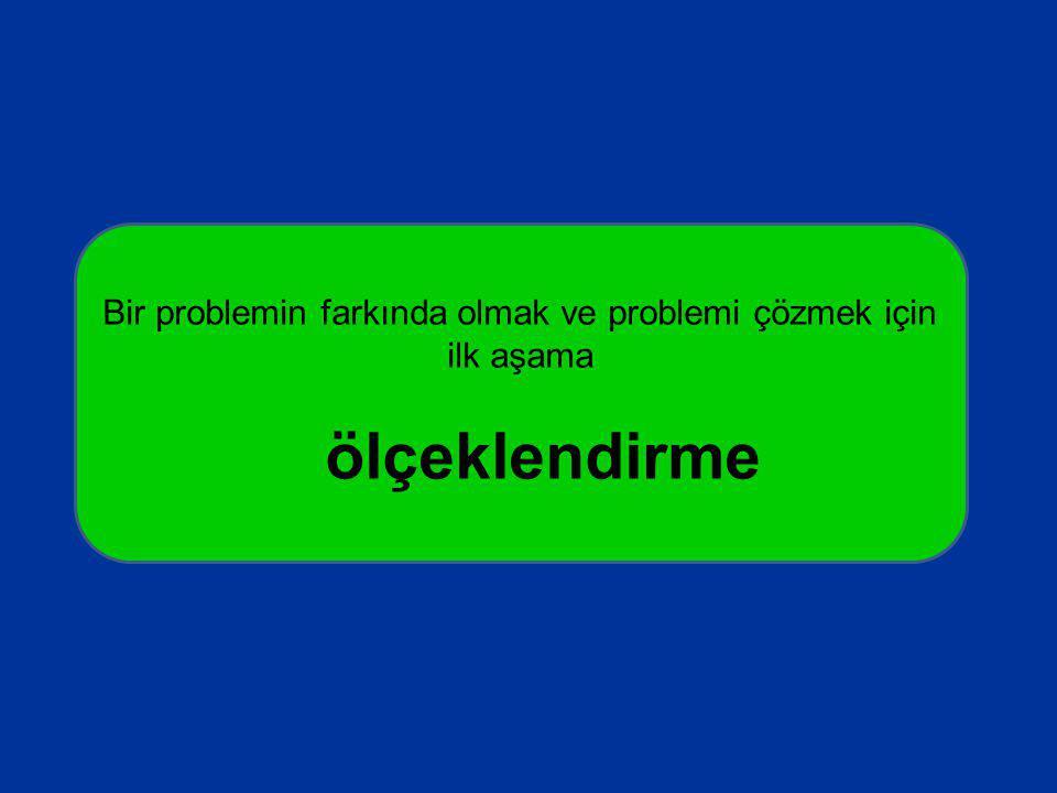 Bir problemin farkında olmak ve problemi çözmek için ilk aşama ölçeklendirme