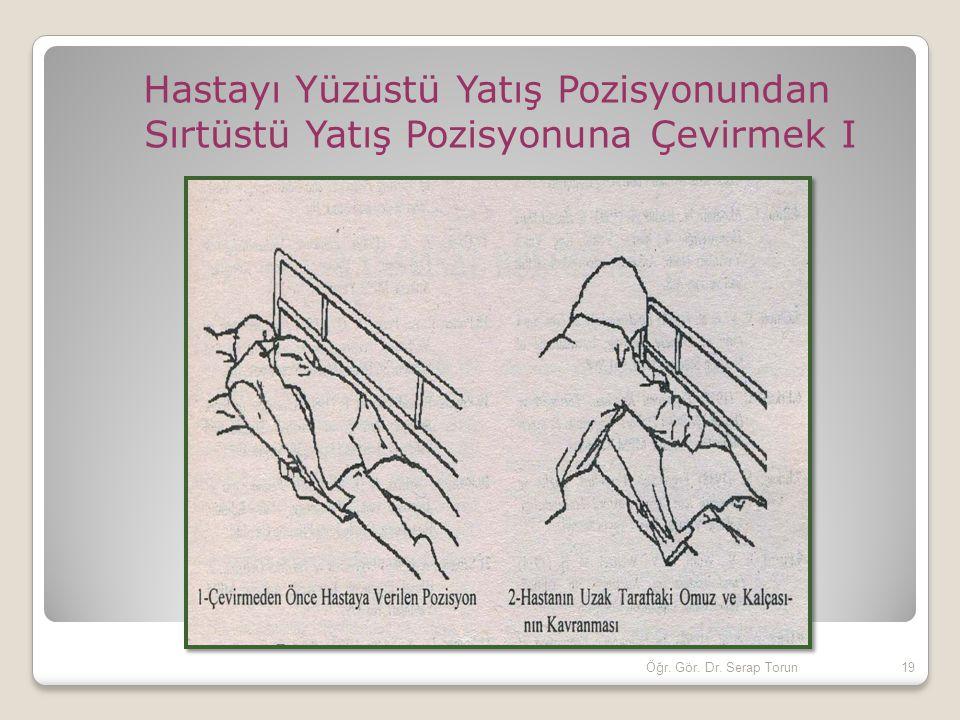 Hastayı Yüzüstü Yatış Pozisyonundan Sırtüstü Yatış Pozisyonuna Çevirmek I 19Öğr. Gör. Dr. Serap Torun