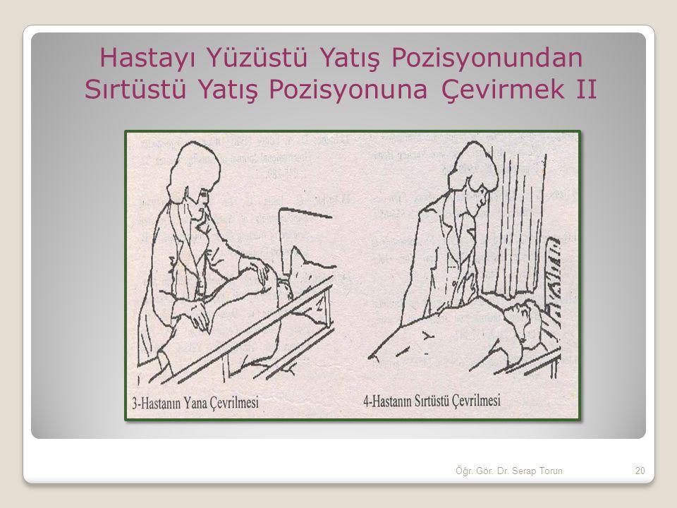 20Öğr. Gör. Dr. Serap Torun Hastayı Yüzüstü Yatış Pozisyonundan Sırtüstü Yatış Pozisyonuna Çevirmek II