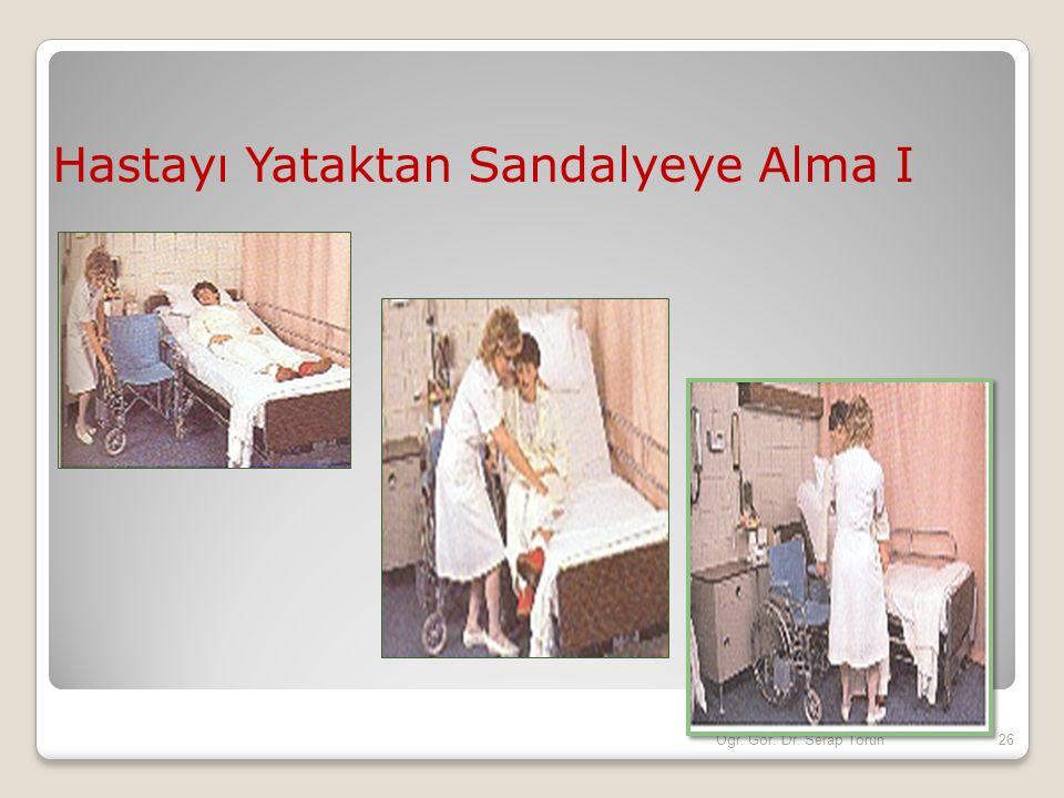 Hastayı Yataktan Sandalyeye Alma I 26Öğr. Gör. Dr. Serap Torun