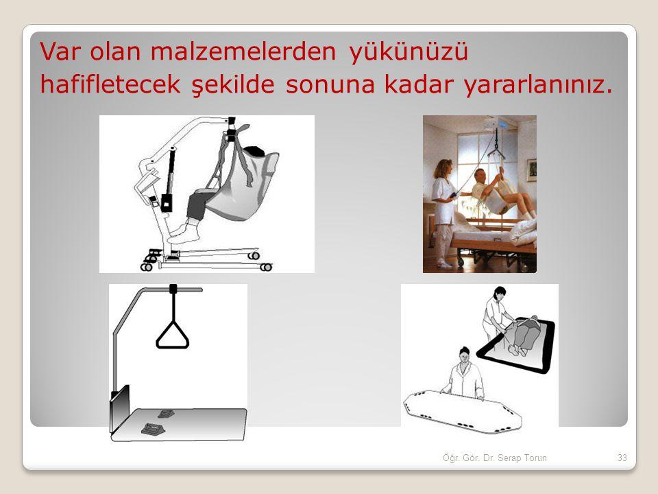 Var olan malzemelerden yükünüzü hafifletecek şekilde sonuna kadar yararlanınız. 33Öğr. Gör. Dr. Serap Torun