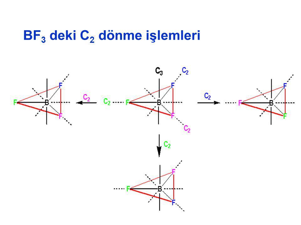 BF 3 deki C 2 dönme işlemleri