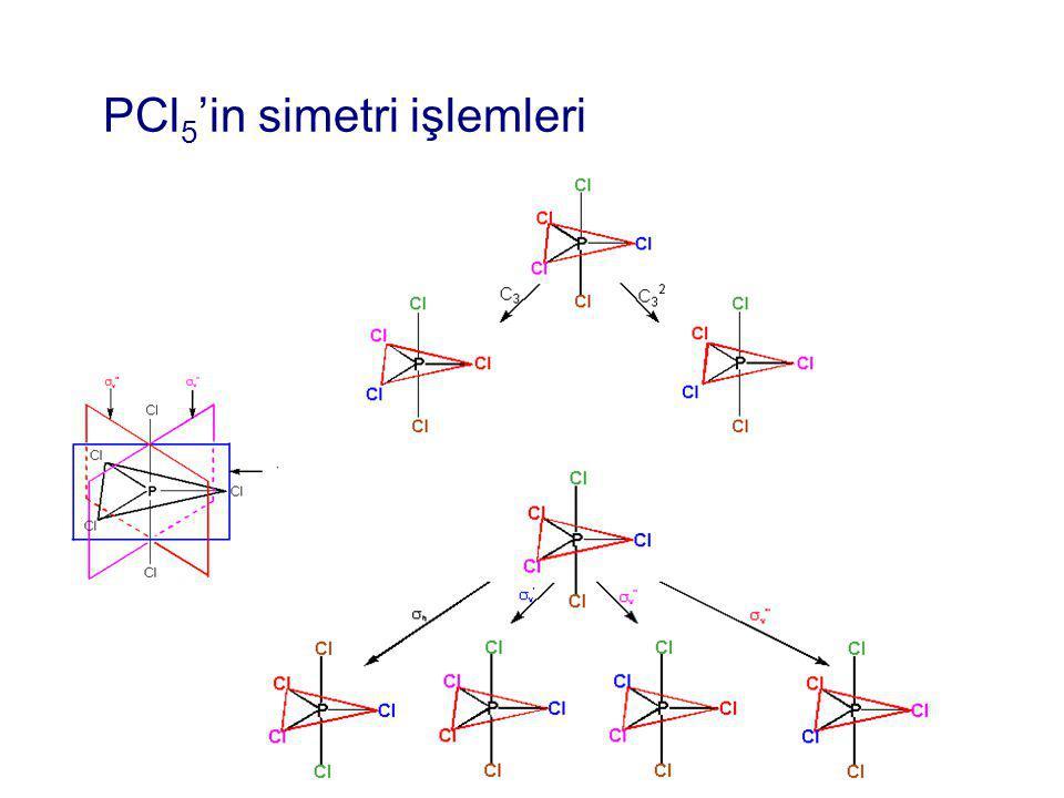PCl 5 'in simetri işlemleri