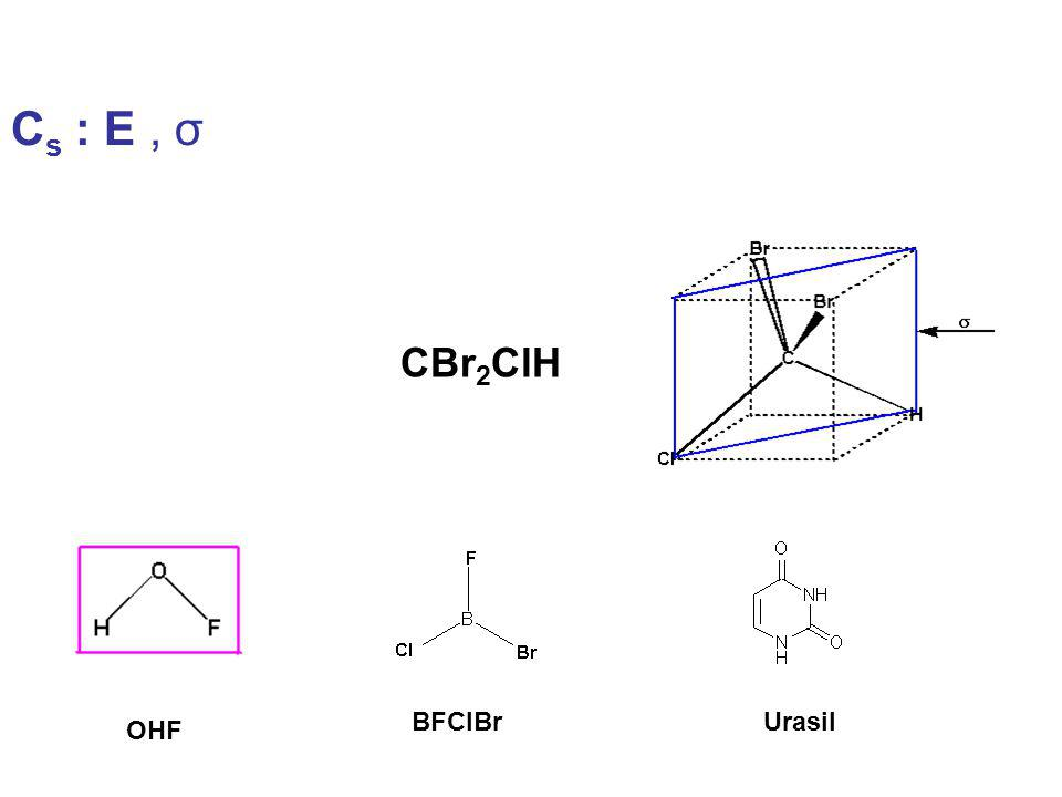 C s : E, σ CBr 2 ClH UrasilBFClBr OHF