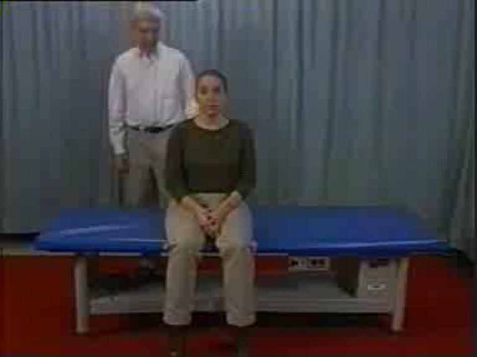 BENİGN PAROKSİSMAL POZİSYONEL VERTİGO-XV Daroff Manevrası  Hastanın evde yardımsız yapabileceği bir egzersizdir.
