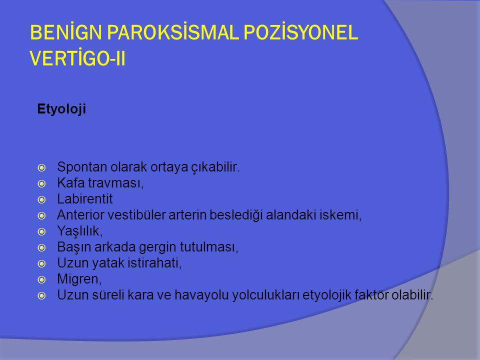 BENİGN PAROKSİSMAL POZİSYONEL VERTİGO- III Patofizyoloji -Kanalolithiazis -Kupulolithiazis.