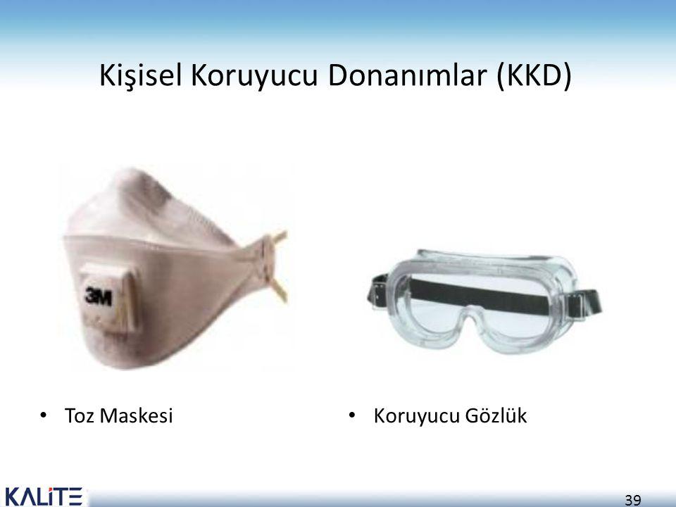 39 Kişisel Koruyucu Donanımlar (KKD) Toz Maskesi Koruyucu Gözlük