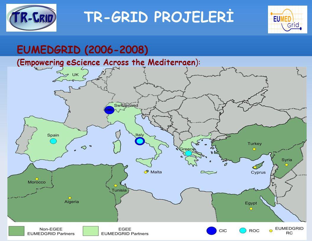 TR-GRID PROJELERİ EUMEDGRID (2006-2008) (Empowering eScience Across the Mediterraen):