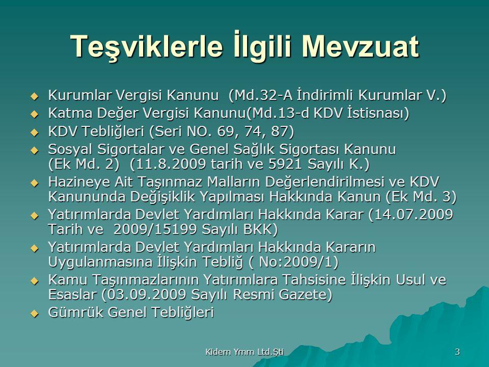 Kidem Ymm Ltd.Şti 34 SİGORTA PİRİMİ İŞVEREN HİSSESİ DESTEĞİ