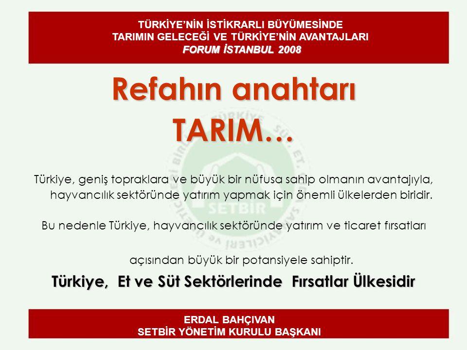 Refahın anahtarı TARIM… Türkiye, geniş topraklara ve büyük bir nüfusa sahip olmanın avantajıyla, hayvancılık sektöründe yatırım yapmak için önemli ülkelerden biridir.