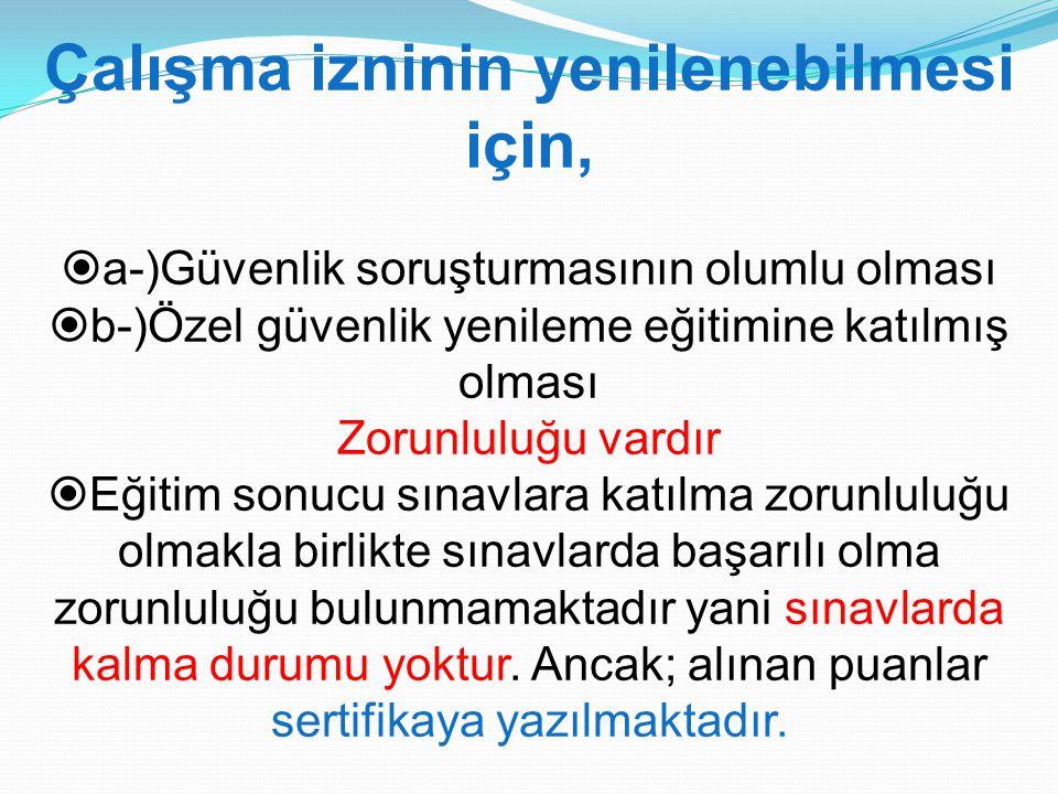 Ö zel g ü venlik şirketlerinin ve Özel Güvenlik Eğitim kurumlarının ve Alarm merkezi y ö neticilerinde a) Türkiye Cumhuriyeti vatandaşı olmak.
