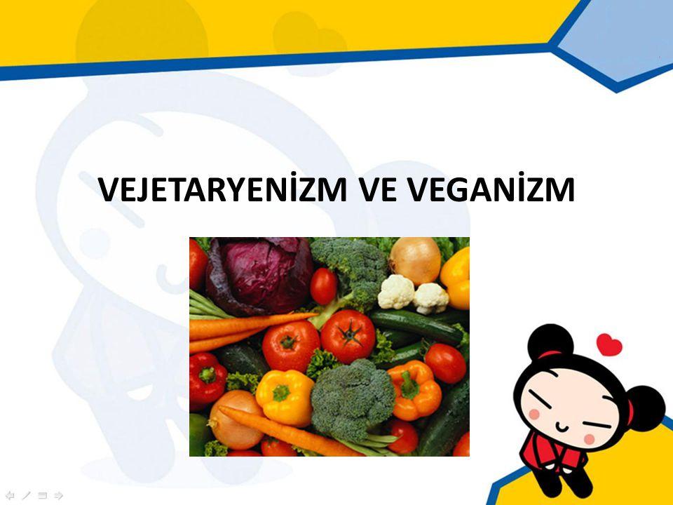 Tanım Vejetaryen : Kırmızı eti, balık etini veya kümes hayvanlarını veya ürünlerini içeren besinleri tüketmeyen kişi.