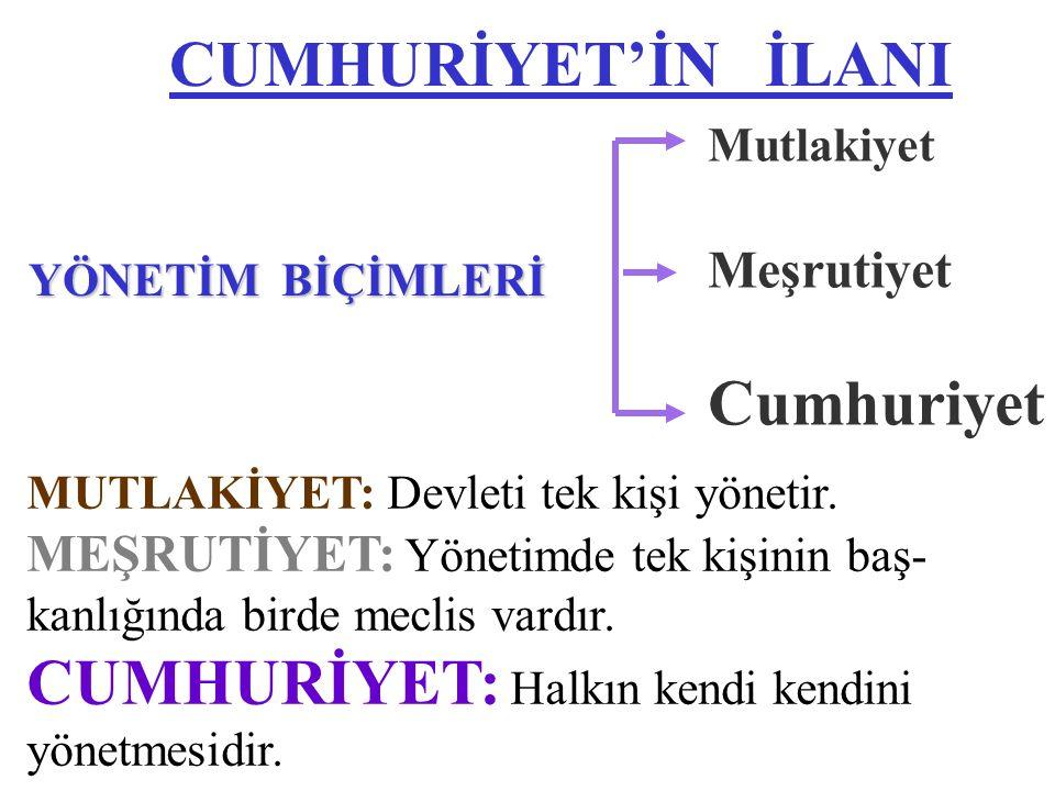 KURTULUŞ KURTULUŞ SAVAŞI Yurdumuza düşmanların girmesi, Atatürk'ün Samsun'a çıkması, T.B.M.M ' nin kuruluşu, Yurdun düşmanlardan temizlenmesi ve Lozan