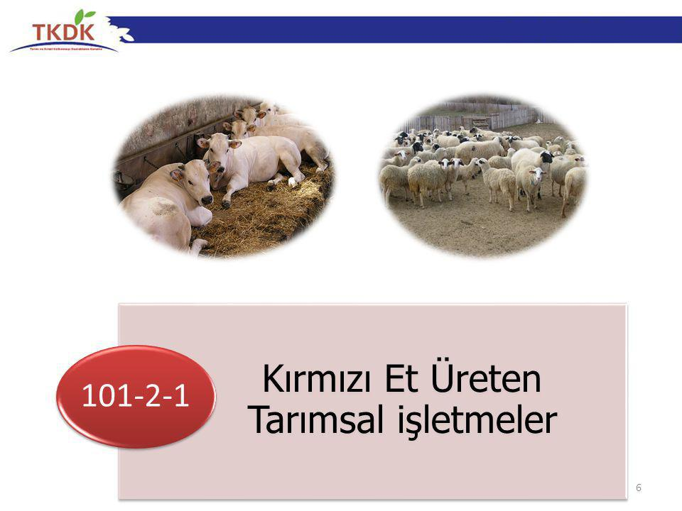 6 Kırmızı Et Üreten Tarımsal işletmeler 101-2-1