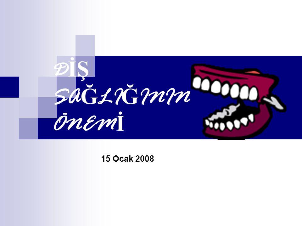 D İŞ SA Ğ LI Ğ ININ ÖNEM İ 15 Ocak 2008