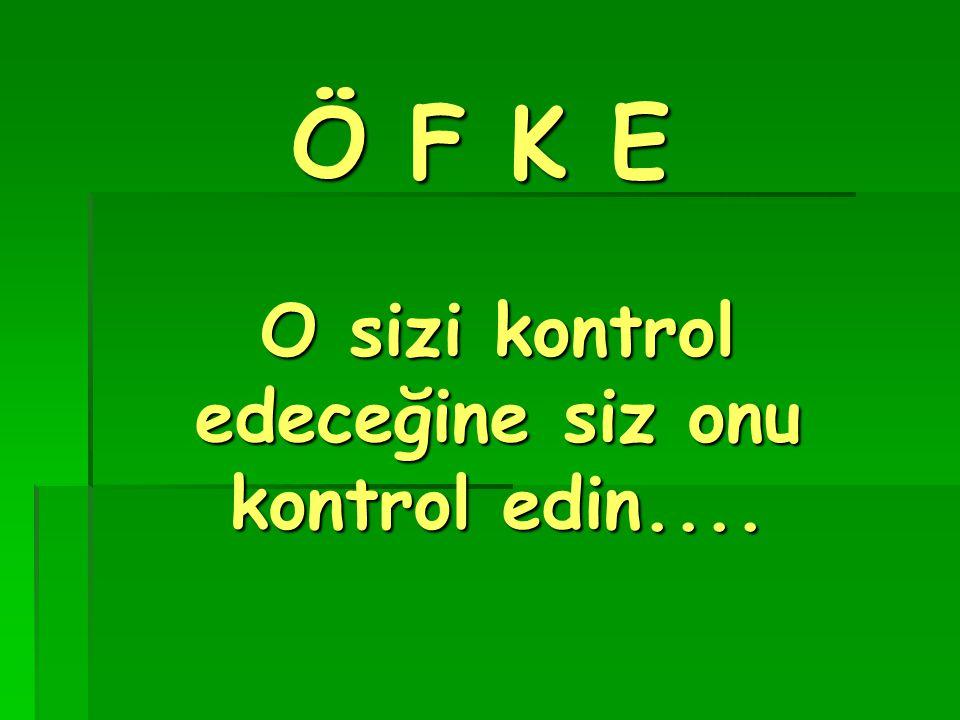 Ö F K E O sizi kontrol edeceğine siz onu kontrol edin....