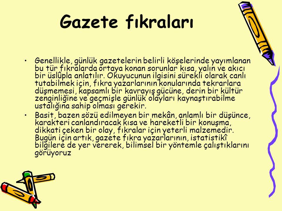 Türk edebiyatında fıkra yazarlığı ne zaman başlamıştır.