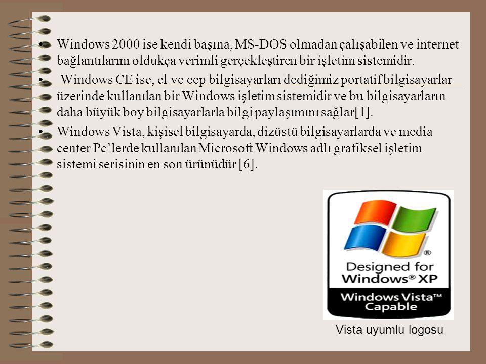 Windows 2000 ise kendi başına, MS-DOS olmadan çalışabilen ve internet bağlantılarını oldukça verimli gerçekleştiren bir işletim sistemidir.