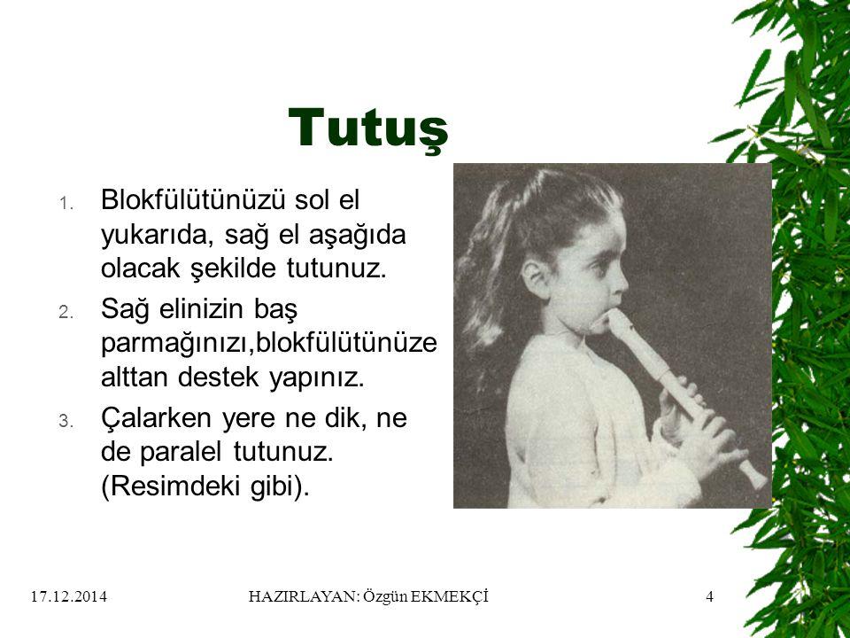17.12.2014HAZIRLAYAN: Özgün EKMEKÇİ4 Tutuş 1.