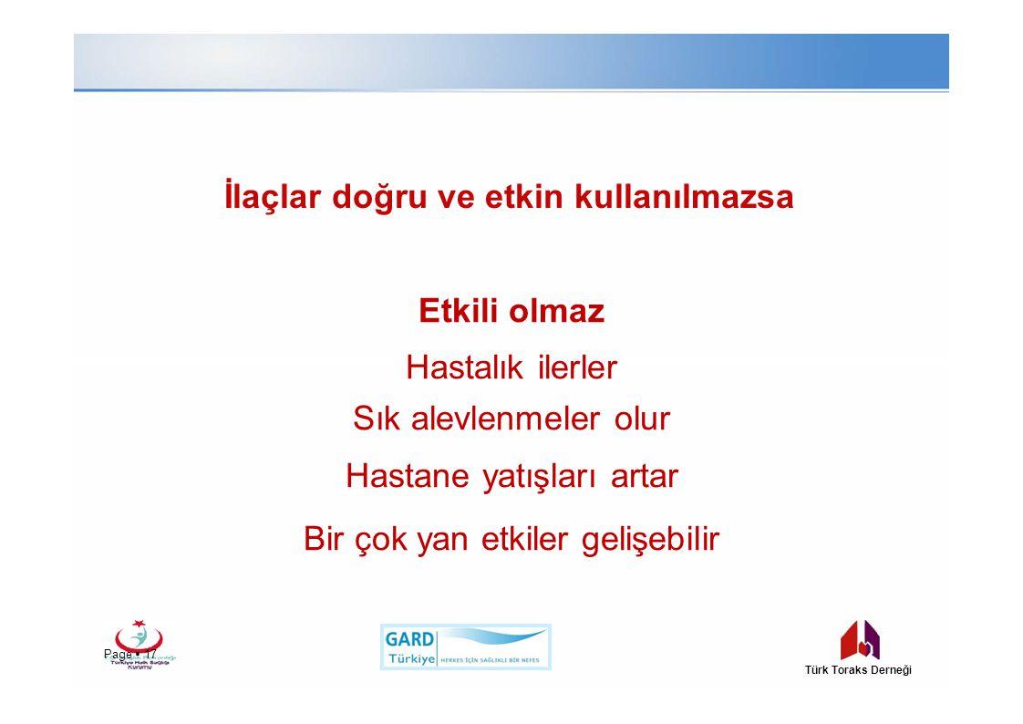 İlaçlar doğru ve etkin kullanılmazsa Page  17 Türk Toraks Derneği Etkili olmaz Hastalık ilerler Sık alevlenmeler olur Hastane yatışları artar Bir çok