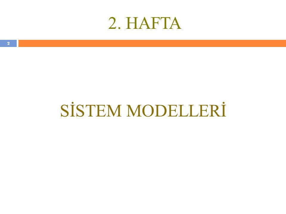 2. HAFTA SİSTEM MODELLERİ 2