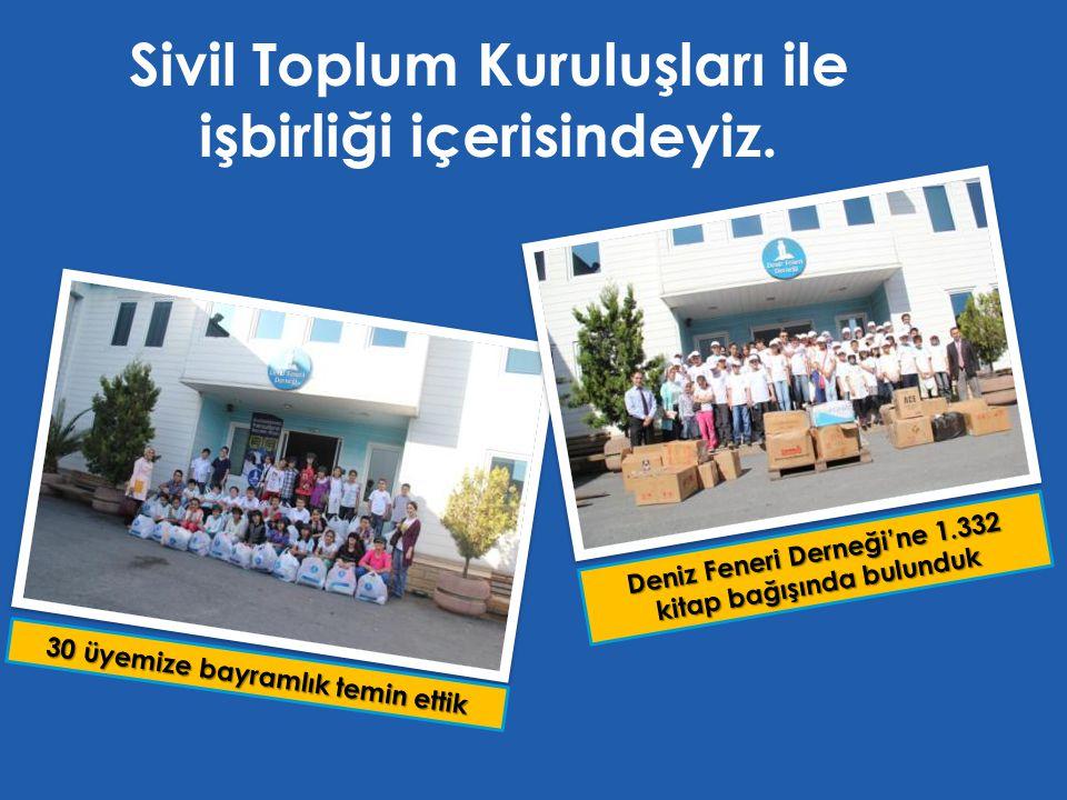 Sivil Toplum Kuruluşları ile işbirliği içerisindeyiz.