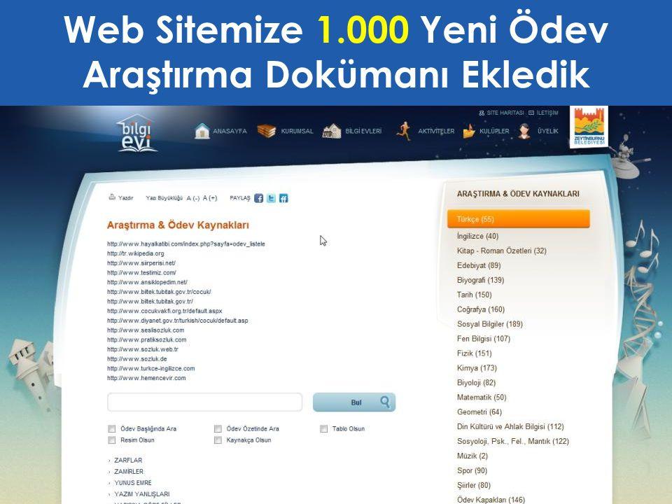Web Sitemize 1.000 Yeni Ödev Araştırma Dokümanı Ekledik