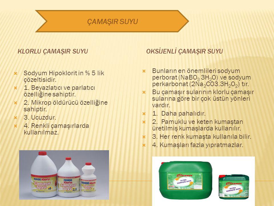 Genel formülü Na 2 CO 3 dir. Çamaşır sodası Sodyum Karbonat olarak bildiğimiz, bazik bir tuzdur. Sodyum Karbonatı suya attığımızda: Na 2 CO 3 +H 2 O →