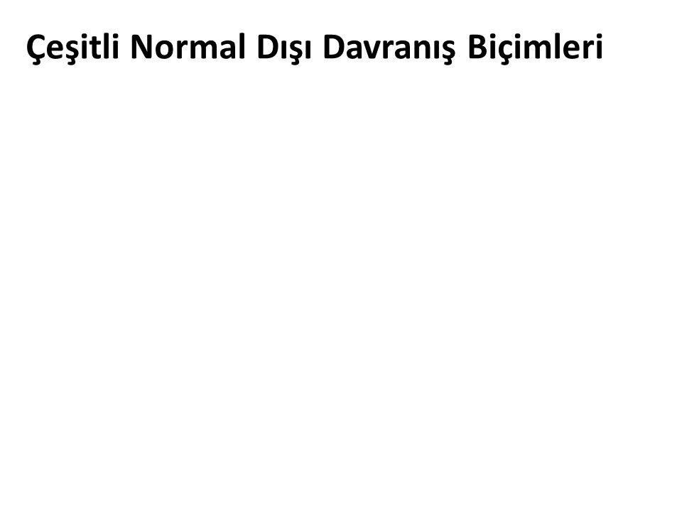 Çeşitli Normal Dışı Davranış Biçimleri
