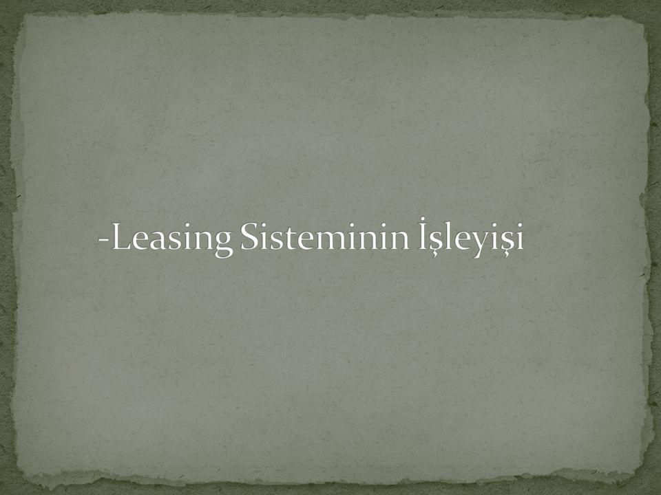 2-) Leasing şirketi ile laşma